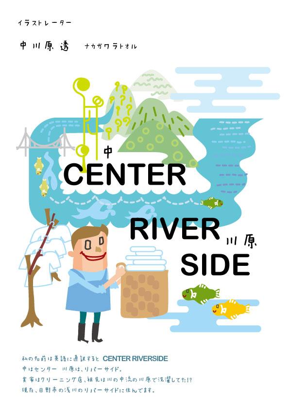 苗字を直訳するとCENTER RIVER SIDE。ストーリー性が出てくる。